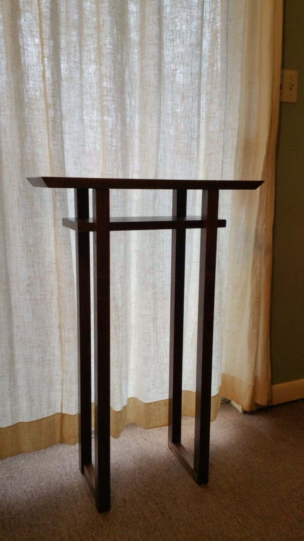 Collection Narrow Modern Wood Entry Table Live Edge Tall Table For Medium
