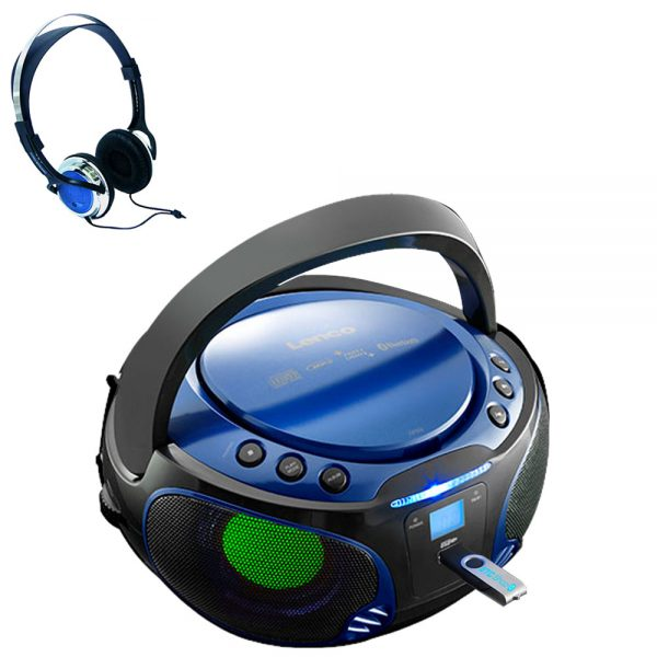 Collection Portable Boombox Stereo System Cd Mp3 Player Usb Kids Room Medium