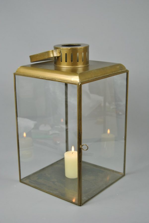 Extra Large Vintage style Antique Gold Glass Tea Light
