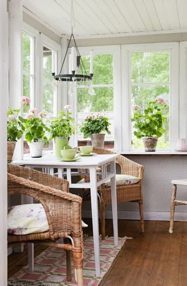 Fresh 20 Small And Cozy Sunroom Design Ideashome Design And Medium