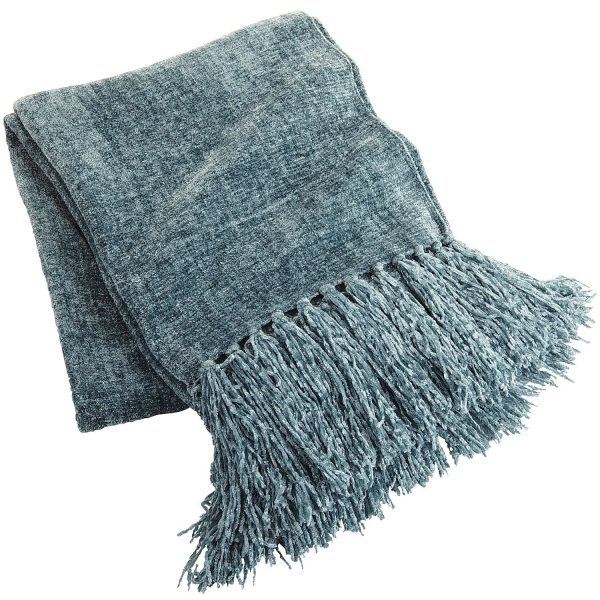 Fresh Smoke Blue Chenille Throwpier 1 Imports Medium