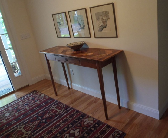 Fresh Tall Hallway Table With Herringbone Top Table Stylehome Medium