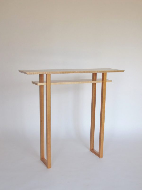 Get Tall Narrow Wood Foyer Table Narrow Hall Table Tall Side Medium