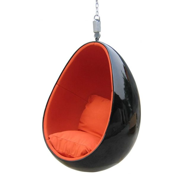 Inspiration Eero Aarnio Clear Hanging Egg Chair Mooka Modern Medium