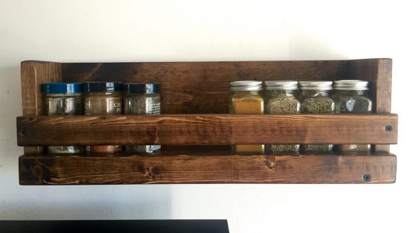 Kitchen Wall Mounted Spice Rack One Shelf Spice Organizer Medium