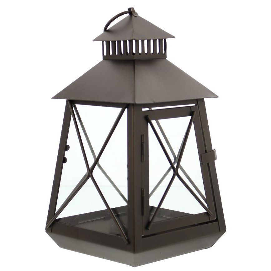 Large Black Stagecoach Lantern Metal And Glass Hanging Medium