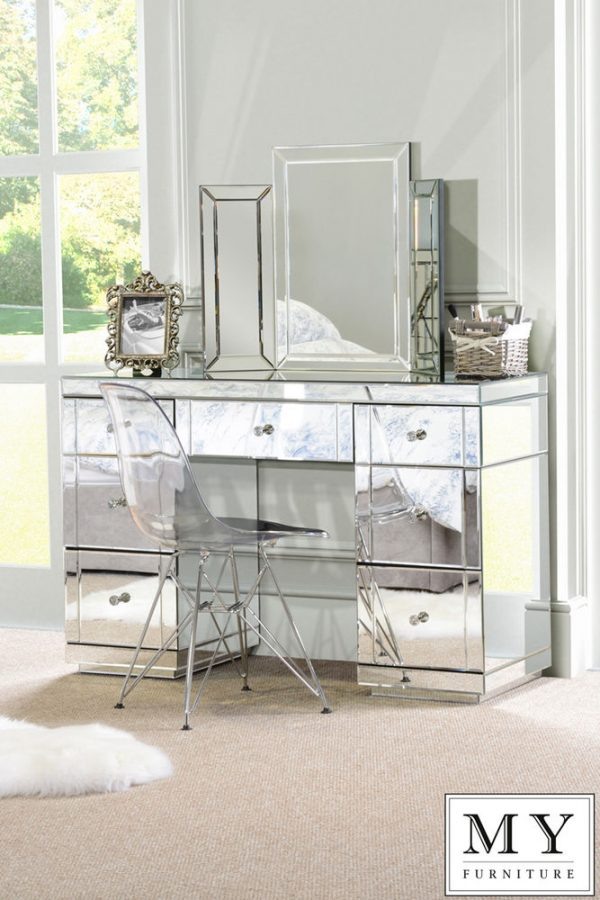 Looking Best Large Mirrored Furniture Dressing Console Table Desk From Medium
