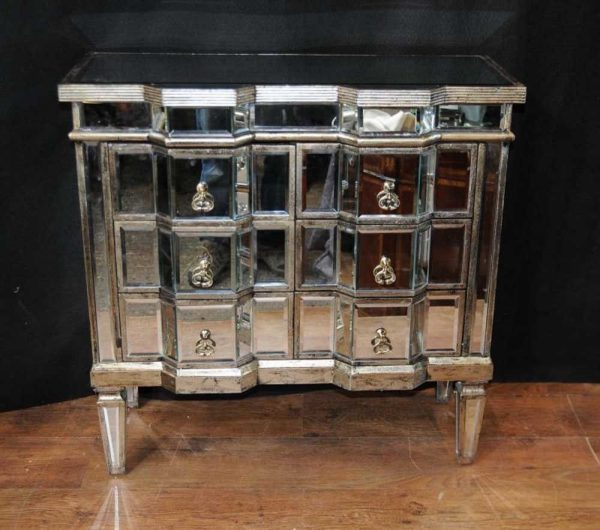Looking Inspirational Art Deco Mirror Chest Drawers Mirrored Furniture Chests Medium