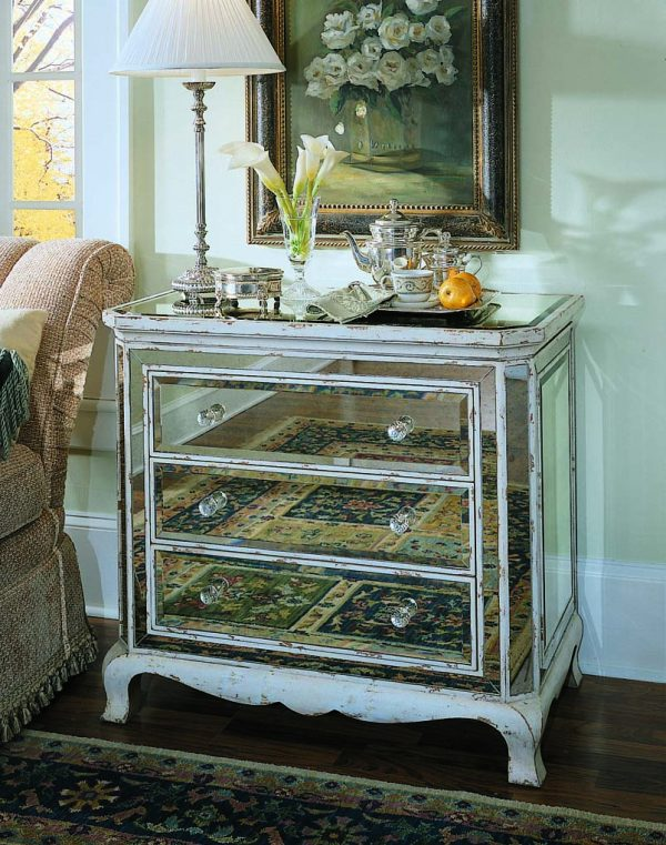 Looking Popular Three Drawer French Mirrored Chestchests Medium