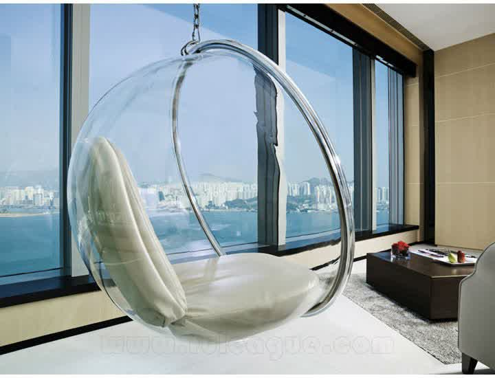 our favorite clear hanging chair for indoor and outdoorhomesfeed
