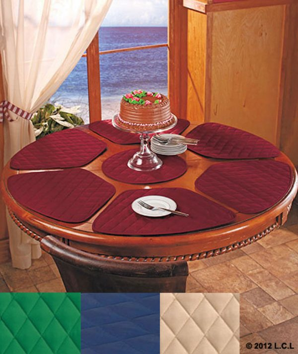 Perfect 7 Pc Round Table Wedge Shaped Placemat Set In Stock 6 Medium