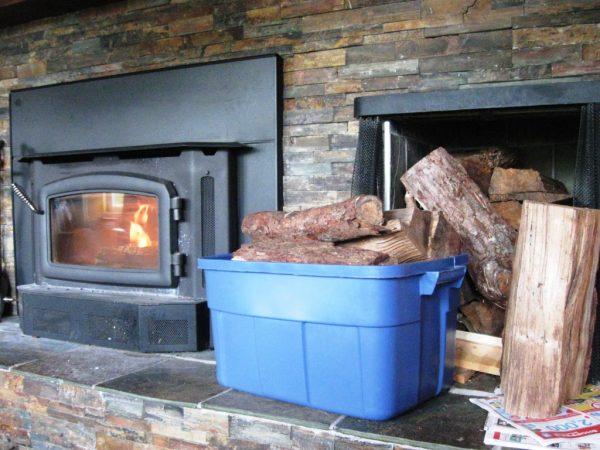 Perfect Firewood Carrier With Rubbermaid Binsfive Gallon Ideas Medium