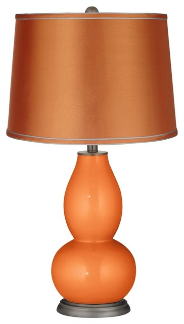 Popular Contemporary Burnt Orange Metallicsatin Orange Shade