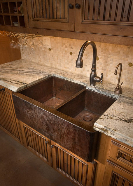 popular farmhouse duet antique copper kitchen sink by native medium
