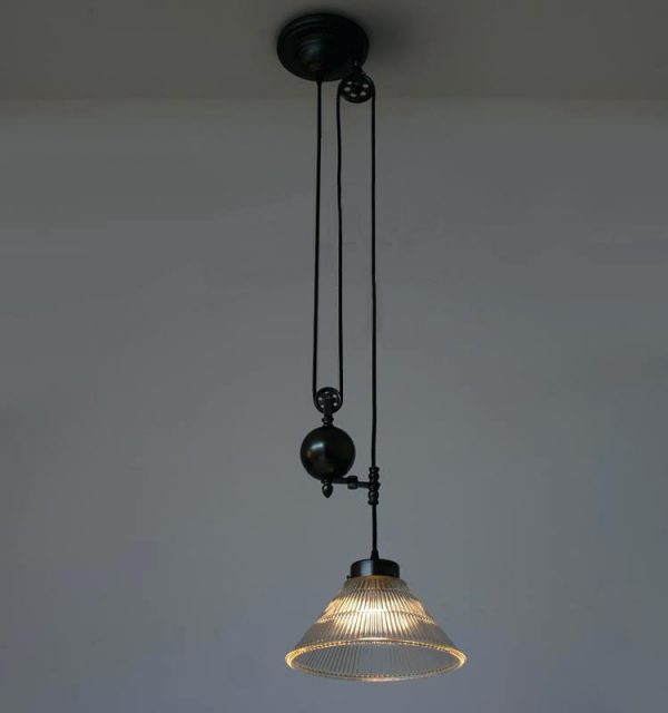 Pulley Light Fixture Hanging Industrial Pipe With 3 By Kit Medium