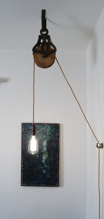 Pulley Repurposed As Light Fixture Home Medium
