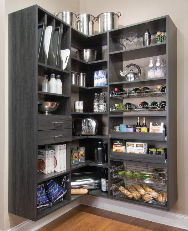 Simply Black Metal Shelf Kitchen Pantry Idea House Design Ideas Medium