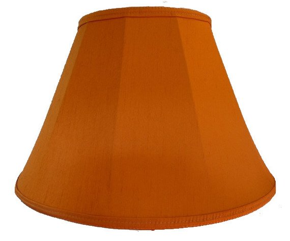 Simply Modern Burnt Orange Fabric Lampshade For A Table Lamp Or Medium