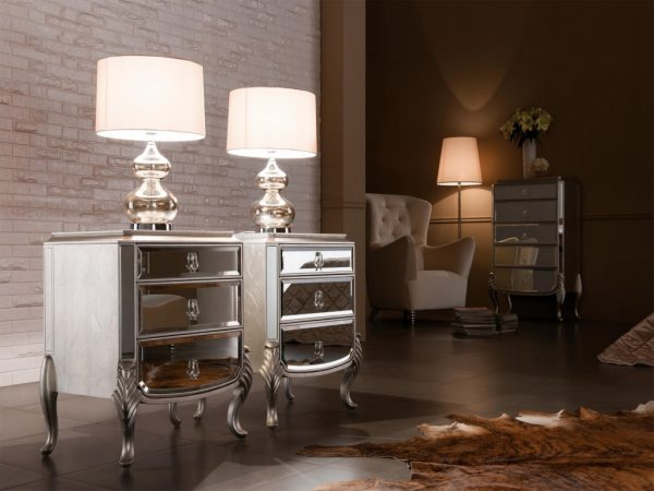 Small Mirrored Tables Mirrored Bedside Table Discount Medium