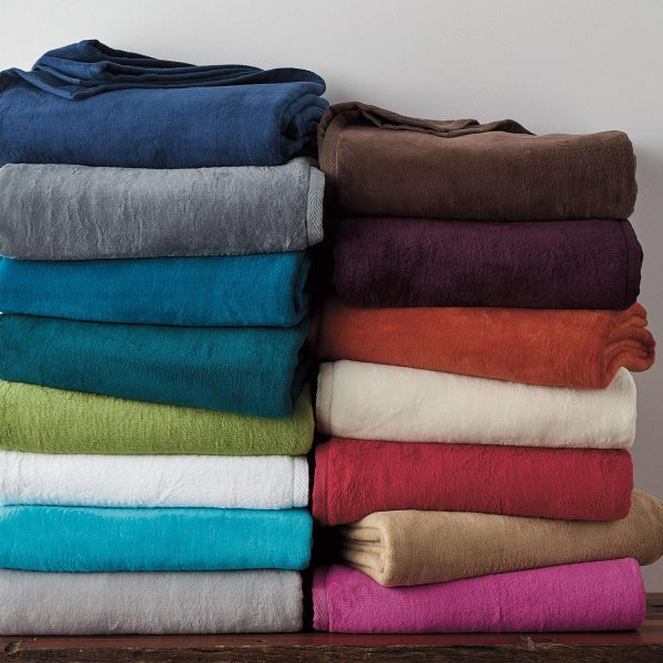Style Cotton Fleece Blanket And Throwthe Company Store Medium