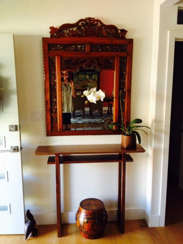 Style Hall Table Tall Narrow Side Table Console Entry Table Small Medium