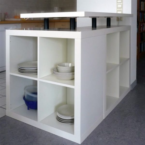 Tips Diy Ikea Hack Lshaped Expedit Kitchen Islanddiy Medium