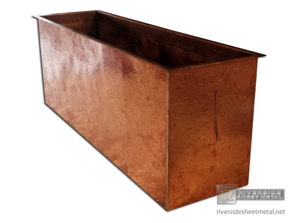 Tips Firewood Storage Box Made With Hand Hammered Copper Medium