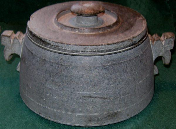 Vintage Soapstone Cooking Pot Asian Medium