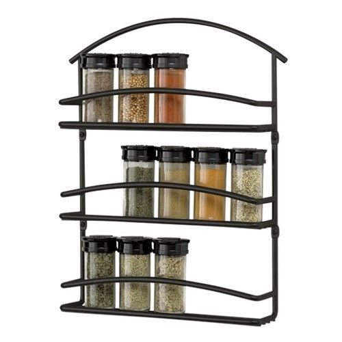 Wall Mount Spice Rack Black EBay Medium