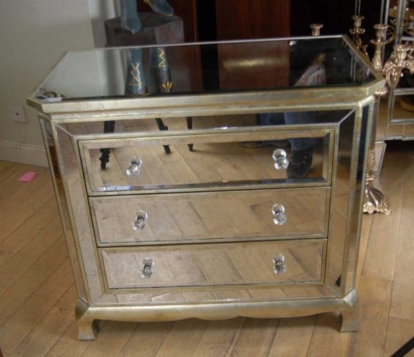 We Share Example Of A Art Deco Mirrored Italian Chest Drawers Commode Cabinetebay Medium