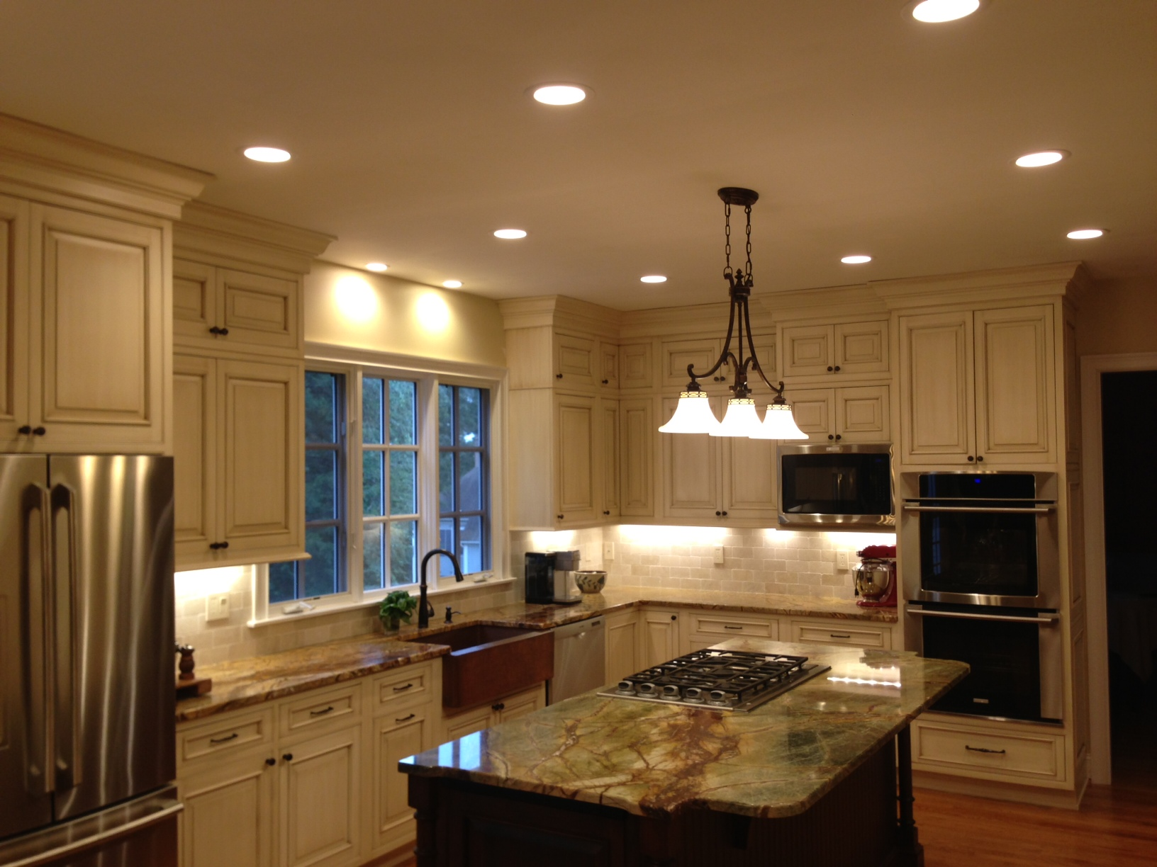 4 recessed lighting kitchen