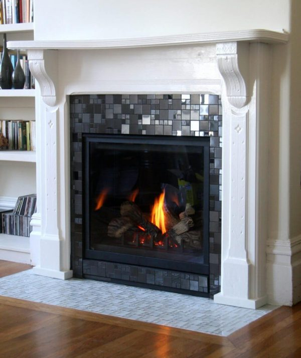 Best 19 Stylish Fireplace Tile Ideas For Your Fireplace Surround Medium