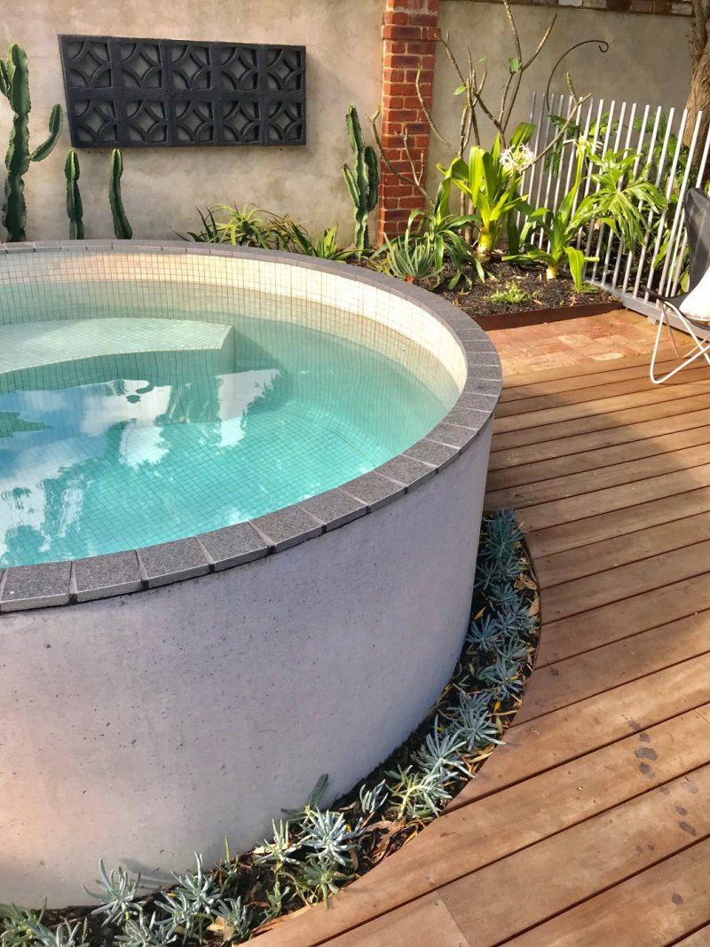 best above ground concrete plunge pool circular 25m palmyra