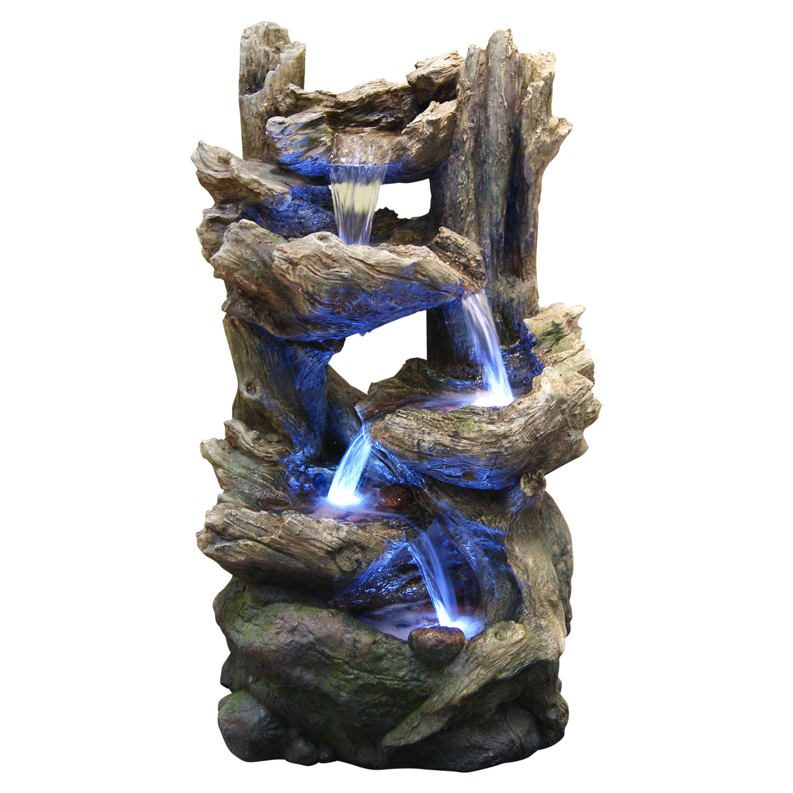 best alpine flowing outdoor fountain with led light fountains