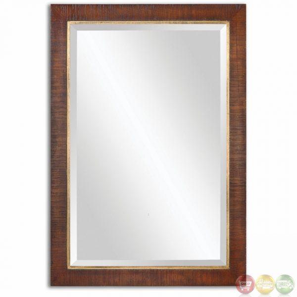 Best Alton Traditional Burnished Walnut Stain Mirror 14491 Medium