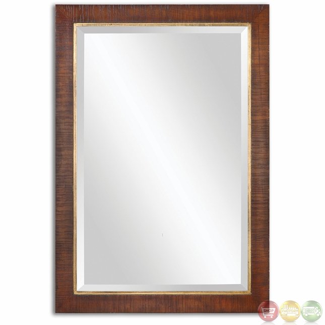 best alton traditional burnished walnut stain mirror 14491