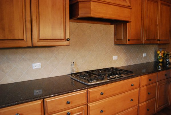 Best Cherry Kitchen Cabinet Design With Kitchen Hood And Cream Medium