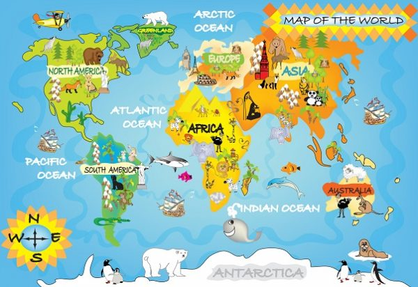 Best Childrens Map Wall Muralworld Map Wallpapers