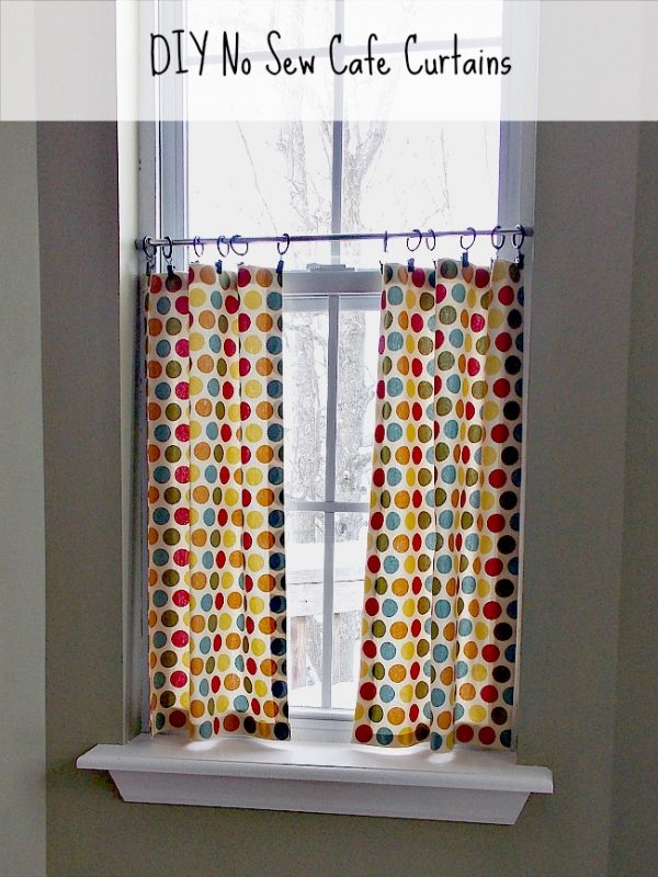 Best Diy No Sew Cafe Curtains Sweet Parrish Place Medium