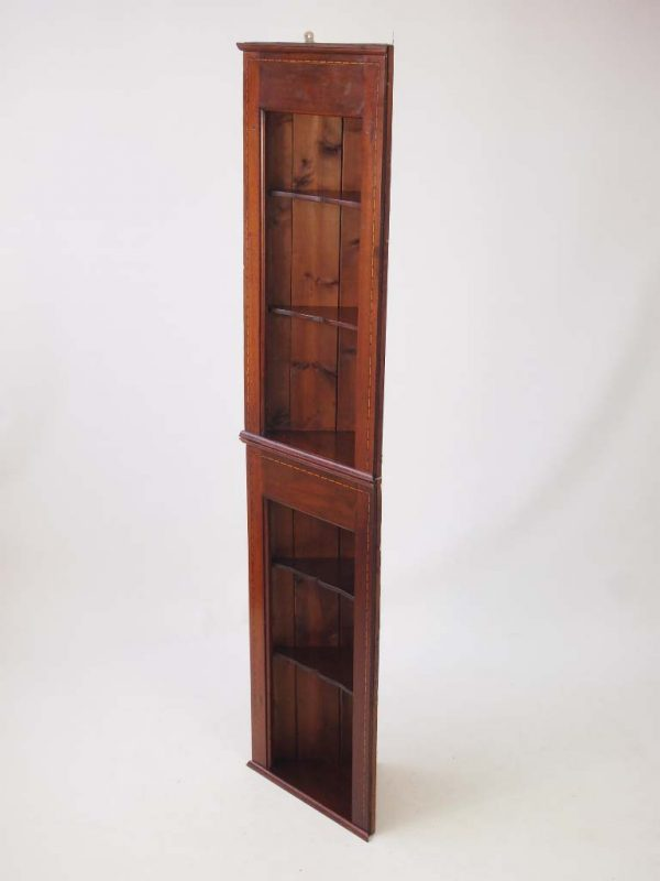 Best Pair Edwardian Hanging Corner Cabinets   Tall Shelf Unit Medium