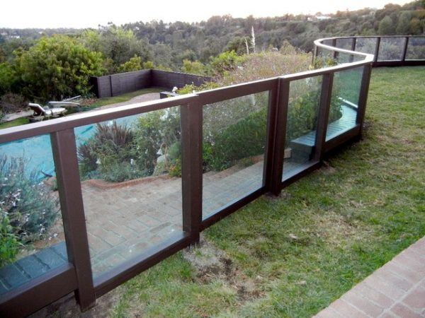 Best Plexiglass Fence Clear Modern Exterior Los Angeles Medium