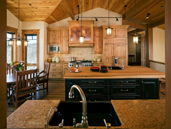 Best Rustic Track Lighting Kitchen Contemporary With Cabinet Medium
