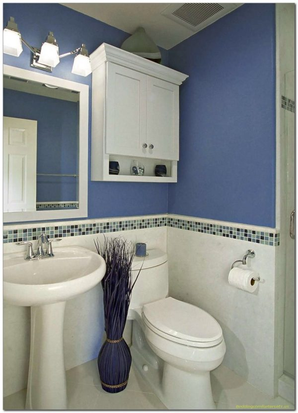 Best Simple Blue And White Bathroom Decor For Small Space 41 Medium