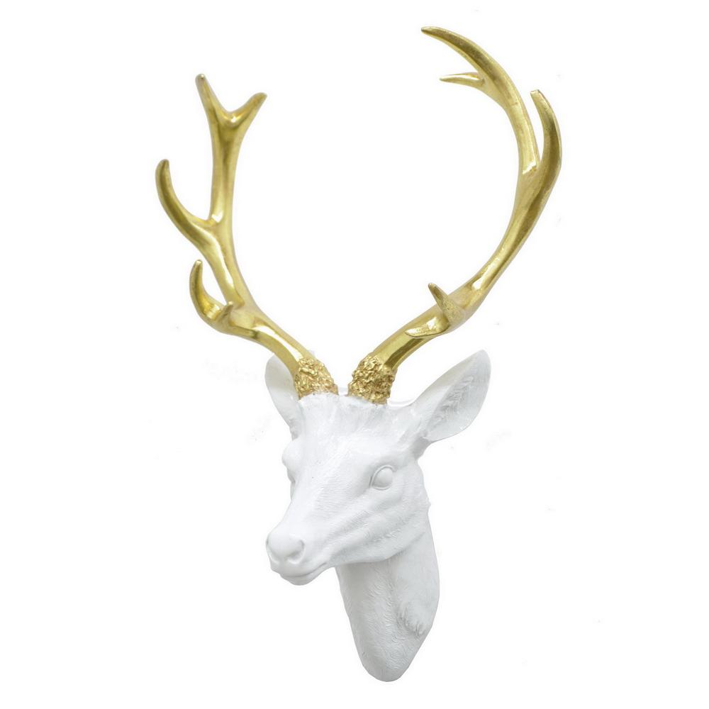 best three hands resin deer head wall decor74159 the home depot