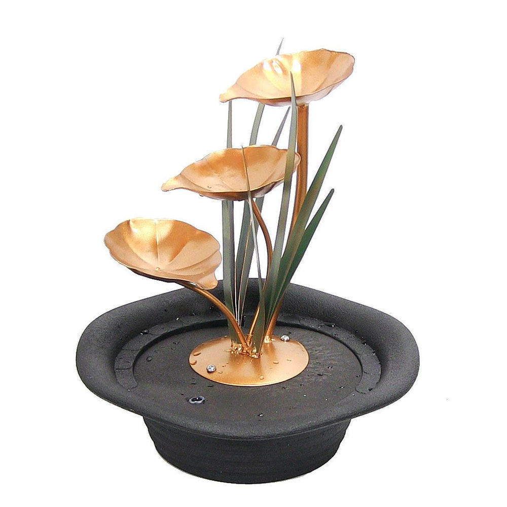 best three leaf cascading indoor electric tabletop water