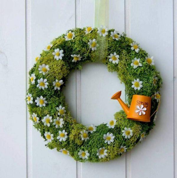 Bore 15 Joyful Handmade Spring Wreath Ideas To Decorate Your Medium