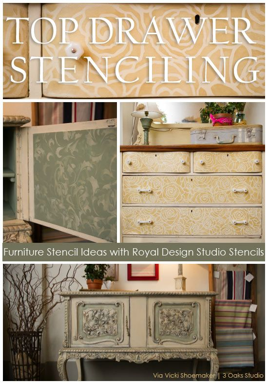 Bore 17 Best Images About Furniture Painting Stencils On Medium