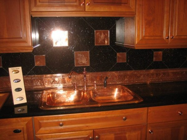 Bore Amusing Black Tin Backsplash Creative Conceptsinspiring Medium