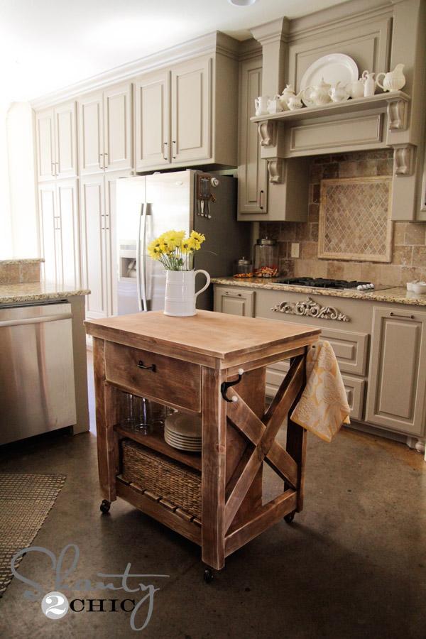 bore ana whiterustic x small rolling kitchen island diy