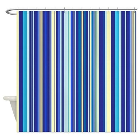 Bore Blue And Yellow Stripes Shower Curtain By Showercurtains1 Medium